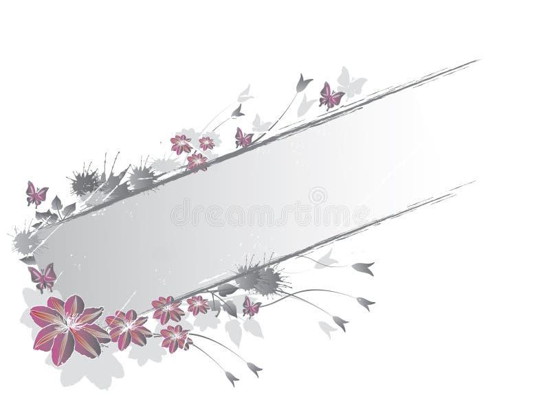 Étiquette florale illustration stock
