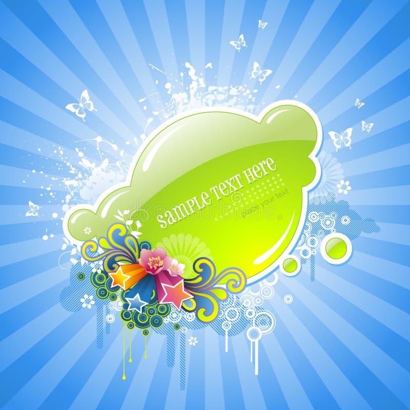 Étiquette florale mignonne illustration stock