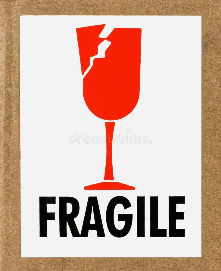 Étiquette fragile photos stock