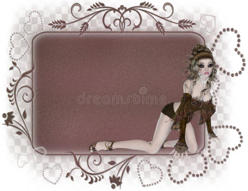 Étiquette gothique de fille illustration de vecteur