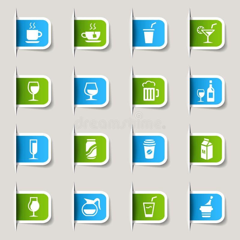 Étiquette - graphismes de boissons illustration stock