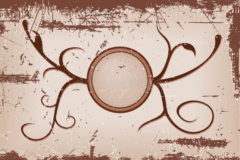 Étiquette grunge 2 de vecteur de Brown illustration de vecteur