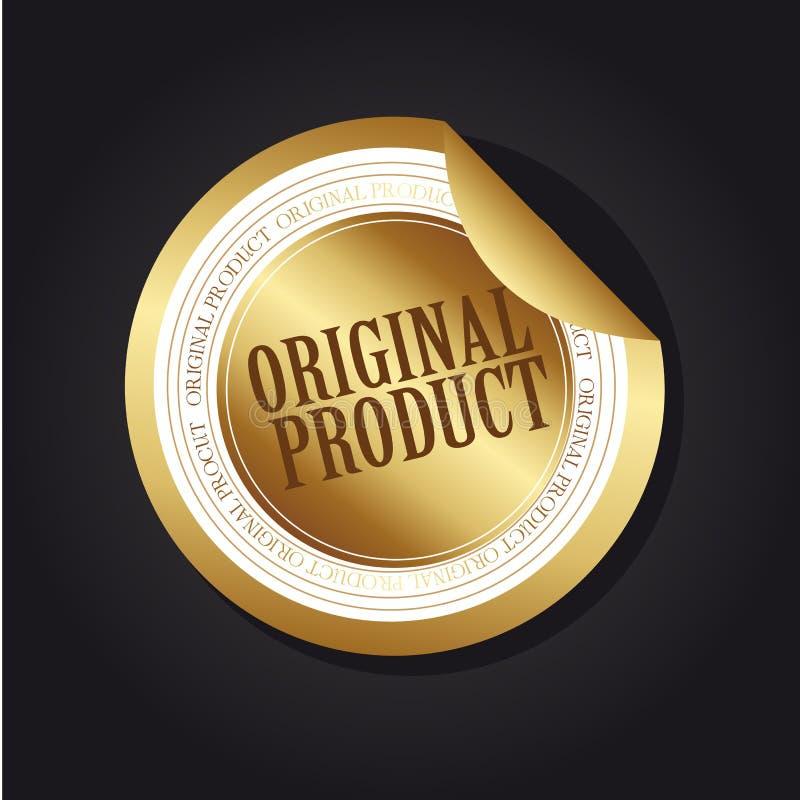 Étiquette initiale de produit illustration libre de droits