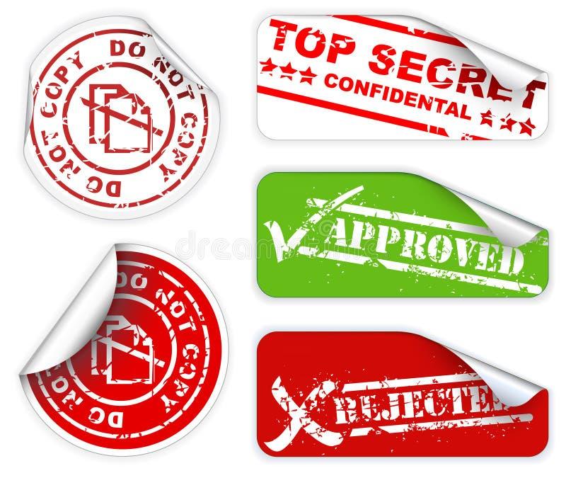 étiquette le dessus secret de collants illustration libre de droits