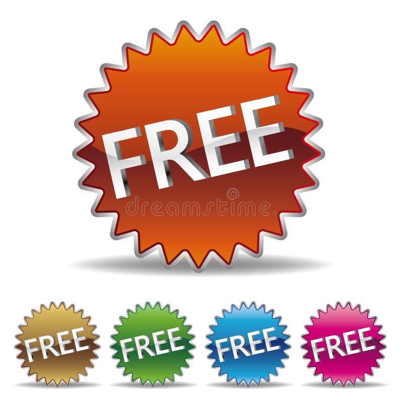 étiquette libre de starburst illustration stock