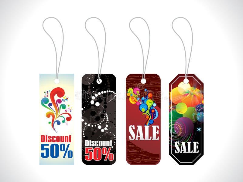 Étiquette multiple abstraite de vente de célébration illustration libre de droits