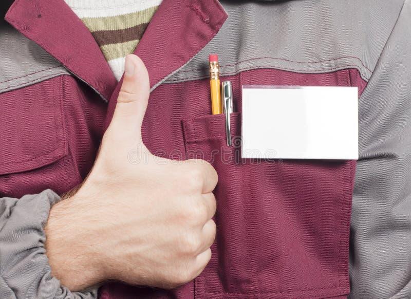 Étiquette nommée sur l'uniforme image stock