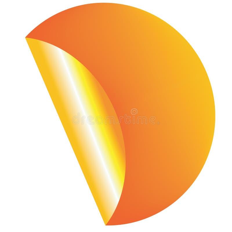 Étiquette orange illustration stock