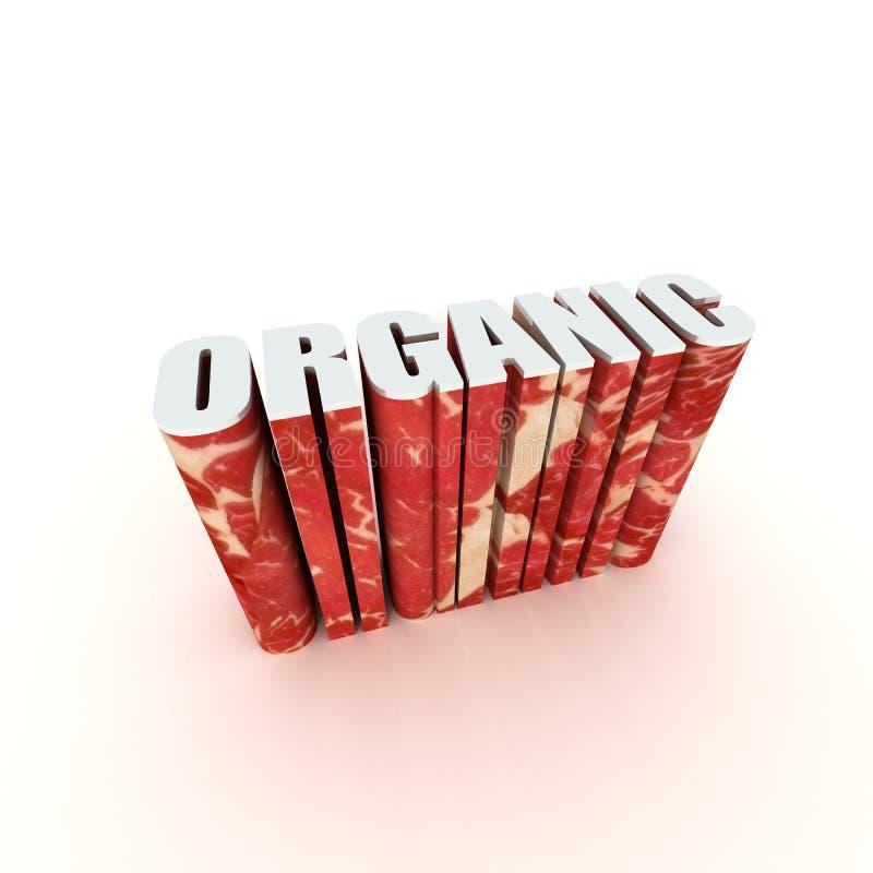 Étiquette organique des textes du titre 3D photographie stock