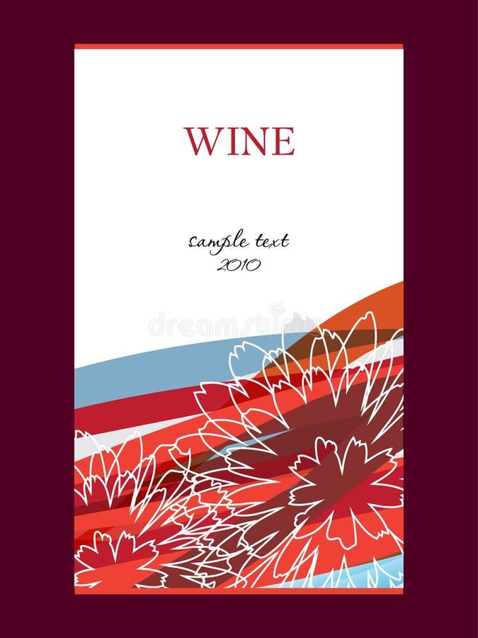 Étiquette pour le vin illustration stock