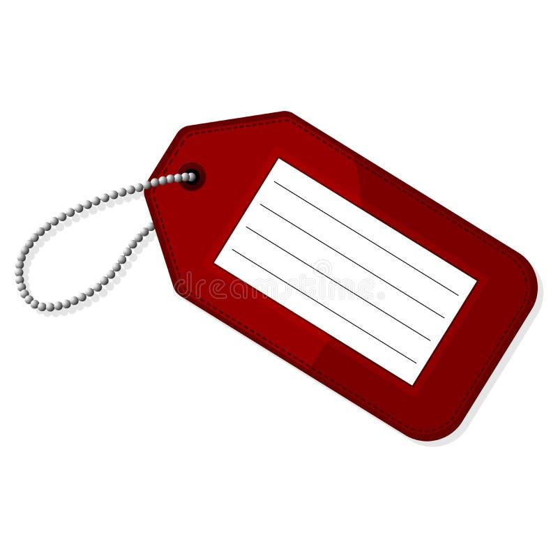 Étiquette rouge de bagage illustration de vecteur