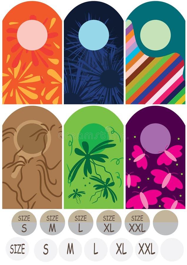 Étiquette Size_eps de tissu illustration libre de droits