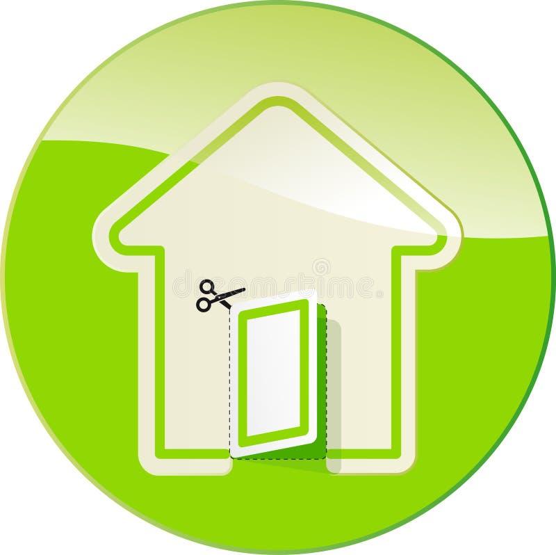 Étiquette sous la forme de la maison illustration de vecteur