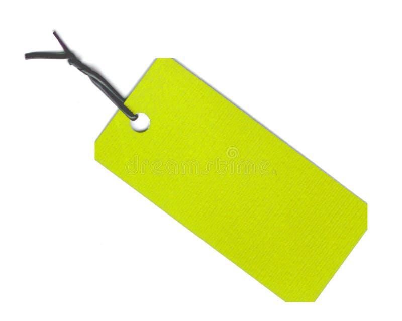 étiquette verte photo libre de droits