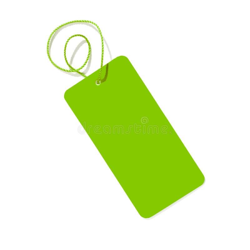 Étiquette verte photos stock