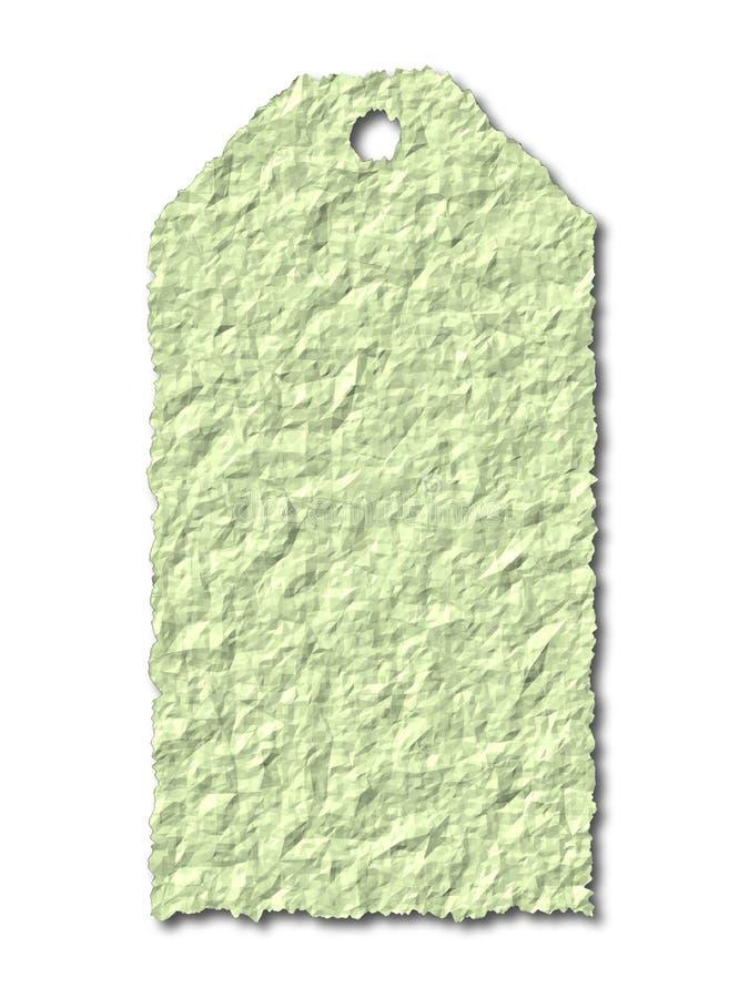 Étiquette Verte De Cadeau Images libres de droits