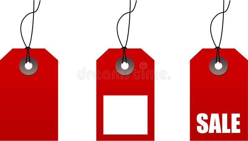 Étiquettes à vendre illustration de vecteur