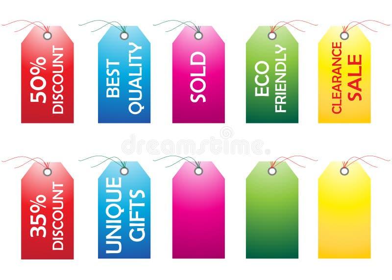 Étiquettes illustration libre de droits