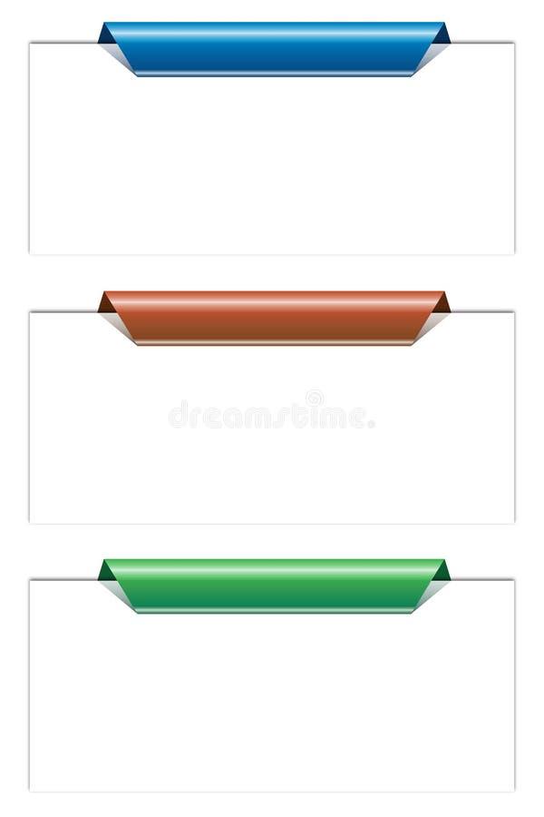 Étiquettes illustration stock