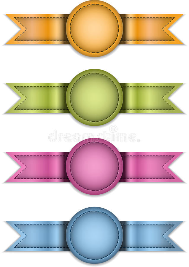 Étiquettes illustration de vecteur