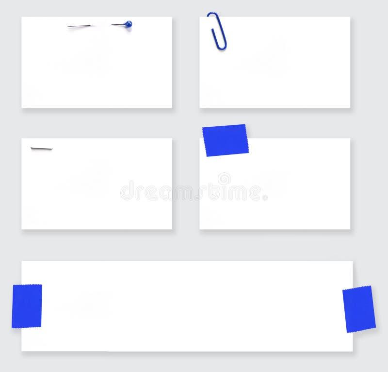 Étiquettes blanc de blanc avec le chemin illustration stock