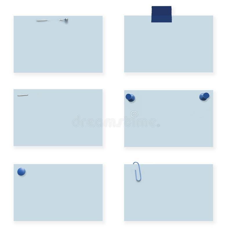 Étiquettes blanc de bleu avec des chemins illustration stock
