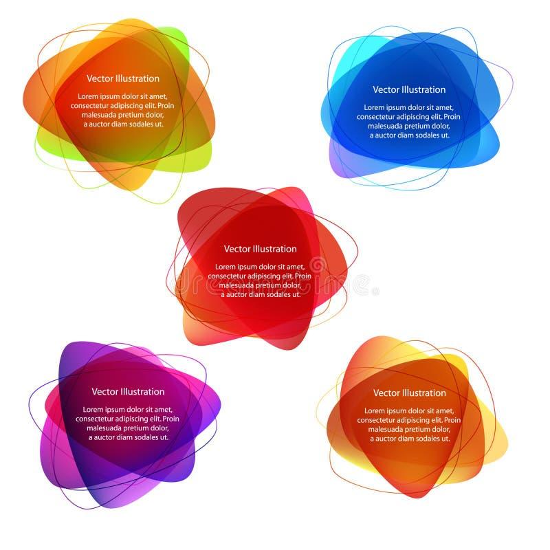 Étiquettes d'abstrait illustration de vecteur
