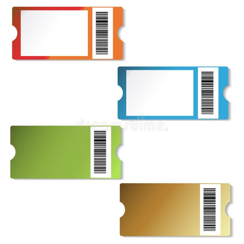 Étiquettes d'achats de vecteur illustration libre de droits