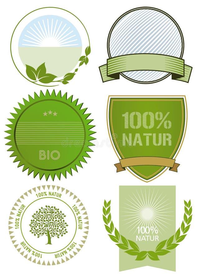 Étiquettes d'aliment biologique illustration libre de droits