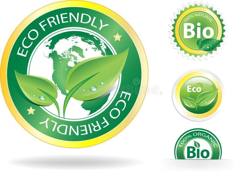 Étiquettes d'Eco illustration stock