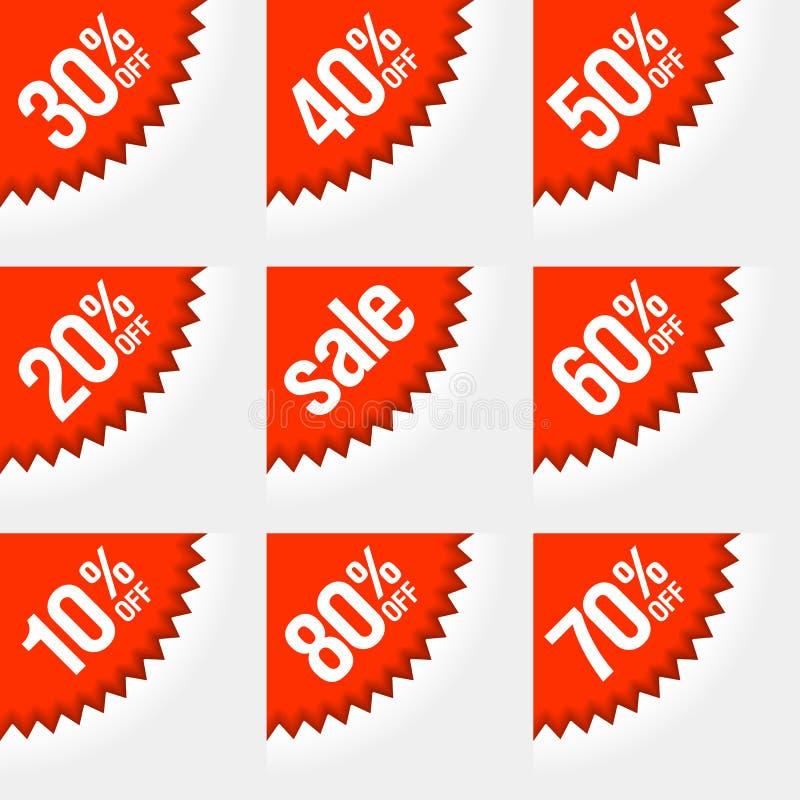 Étiquettes d'escompte illustration stock