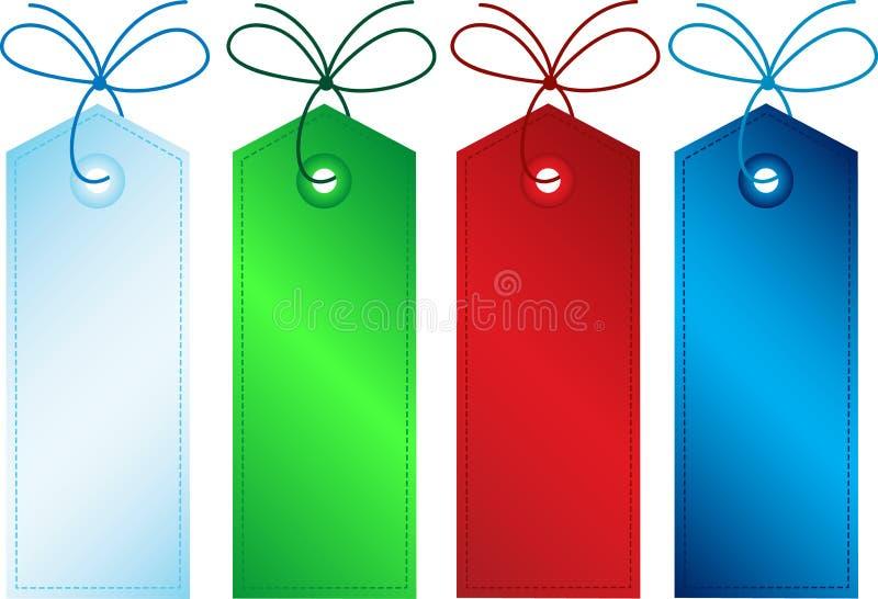 Étiquettes de cadeau illustration libre de droits