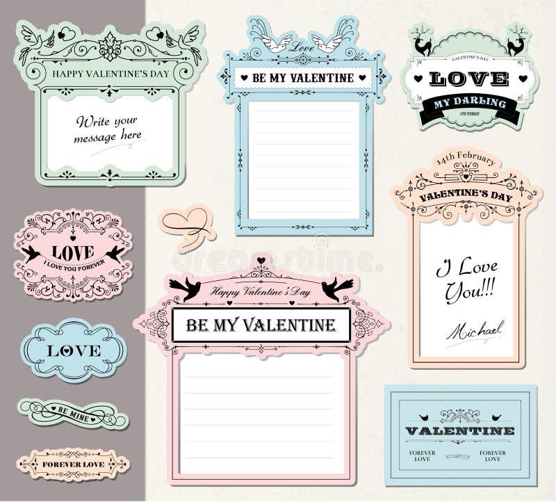 Étiquettes de cadeau d'amour illustration libre de droits