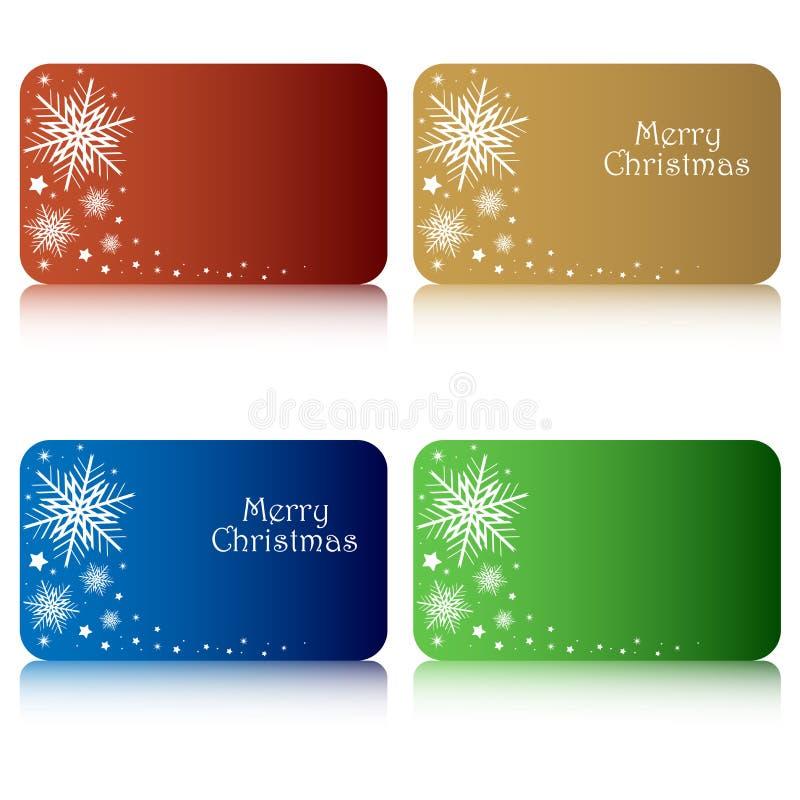 Étiquettes de cadeau de Noël illustration stock