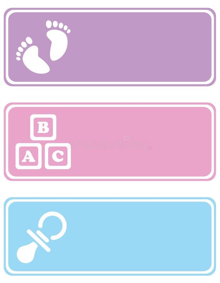 Étiquettes de chéri illustration libre de droits
