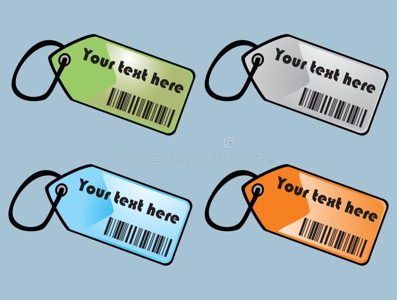 Étiquettes de codes barres illustration libre de droits