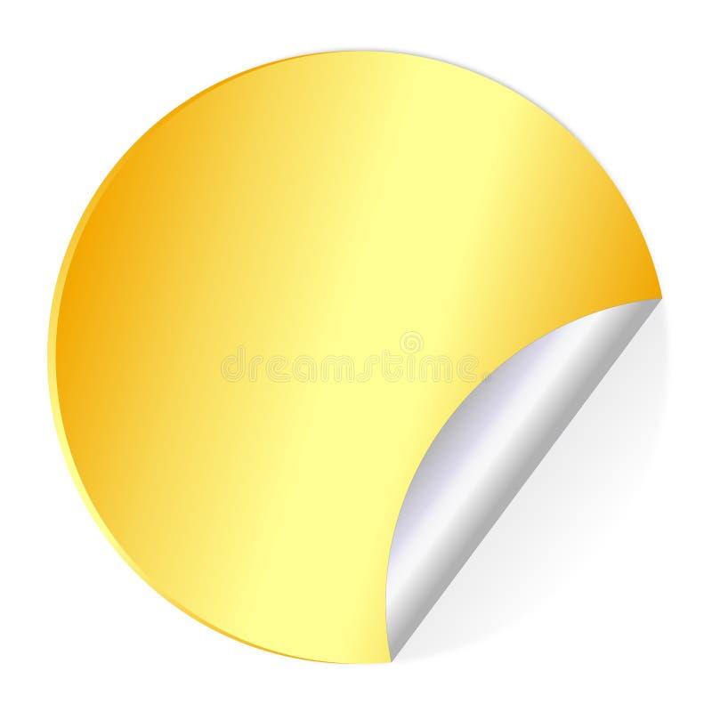 Étiquettes de collant d'or illustration libre de droits