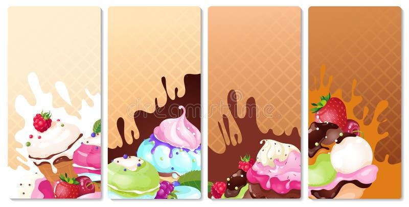 Étiquettes de crème glacée  photo libre de droits