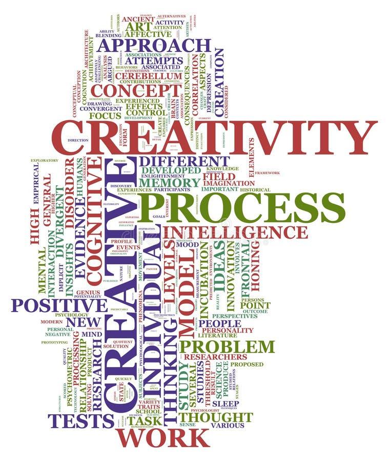 Étiquettes de créativité illustration stock