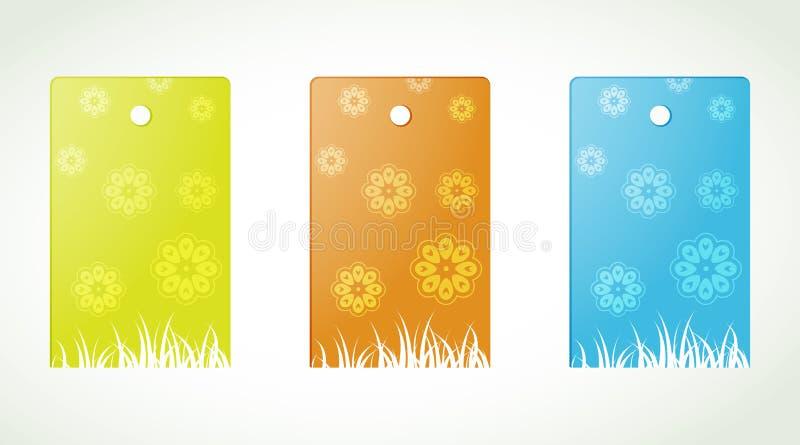 Étiquettes de fleur illustration libre de droits