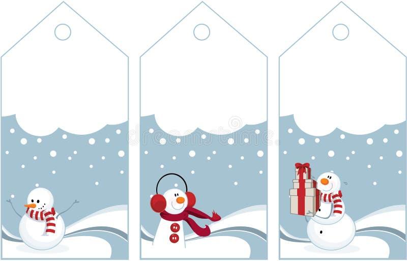 Étiquettes de l'hiver illustration libre de droits