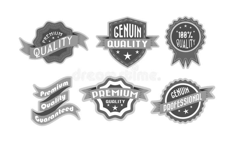Étiquettes de la meilleure qualité de qualité illustration libre de droits