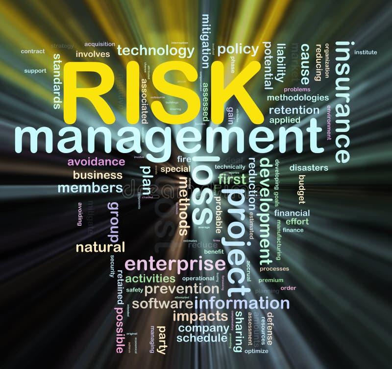 Étiquettes de mot de risque illustration libre de droits