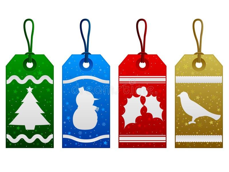 Étiquettes de Noël illustration stock