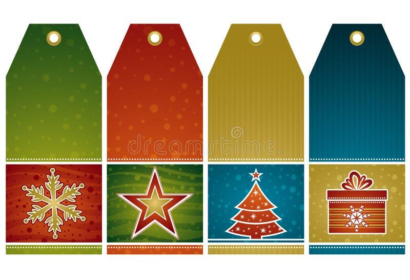 Étiquettes de Noël, vecteur illustration stock