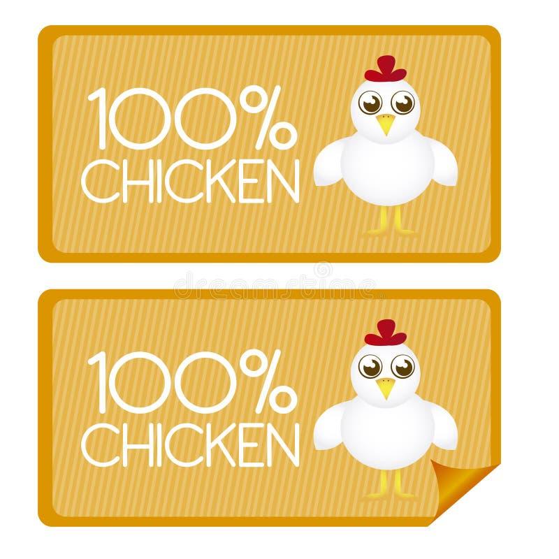 Étiquettes de poulet illustration libre de droits