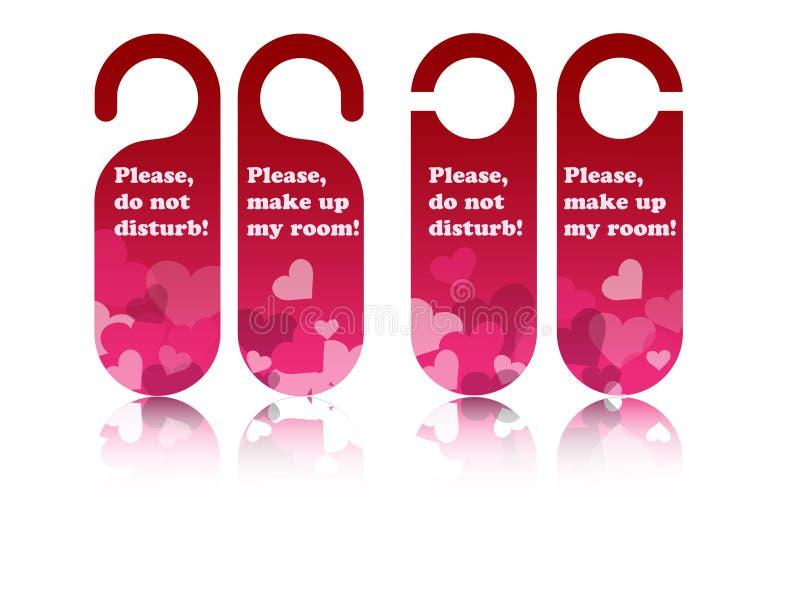 Étiquettes de trappe de Valentine illustration stock