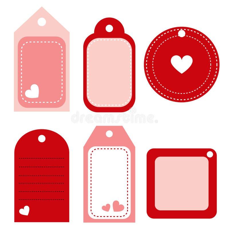 Étiquettes de Valentine - vecteur illustration de vecteur