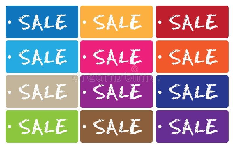 étiquettes de vente illustration stock