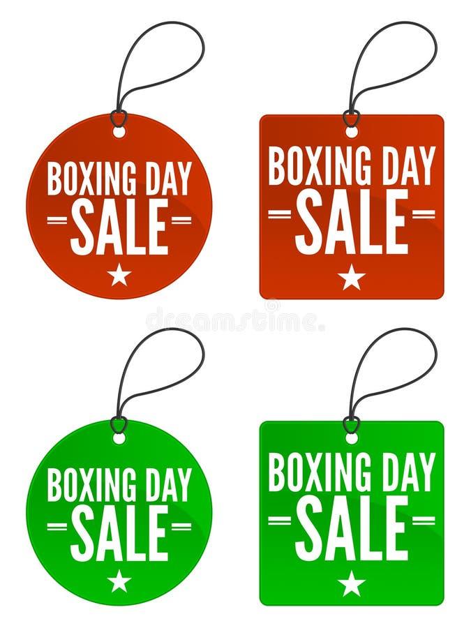 Étiquettes de vente de lendemain de Noël illustration stock